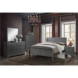 Gray LP King Bed, Dr, M, 2 Ns, Chest CM7866GY - KING 8PC SET Image