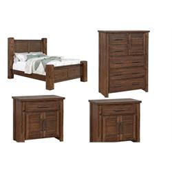 Bed-Chest-2 Nightstands 204531KE Image